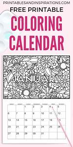 Free Calendar Coloring Pages For 2019