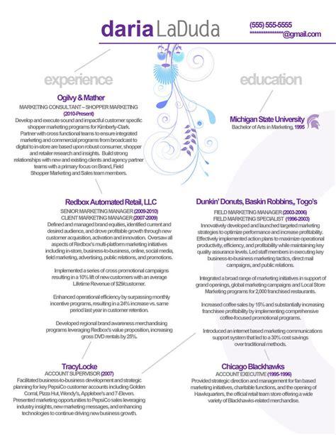 resume marketing back by orangeresume on deviantart