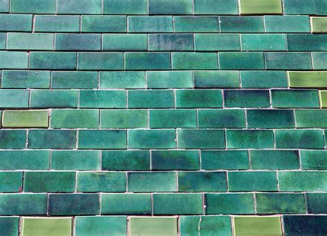 portugal green glazed bricks custom wallpaper