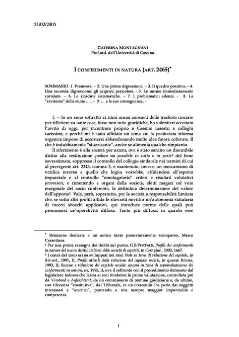 diritto commerciale dispensa conferimenti in natura s r l 2465 c c dispense