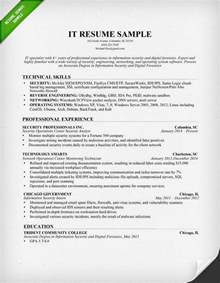 resume format for ojt information technology students should know information technology it resume sle resume genius