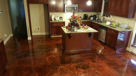 stained concrete floor kitchen 5 easy steps on how to stain interior concrete floors 5694