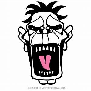 SCREAMING FACE VECTOR CLIP ART - Download at Vectorportal