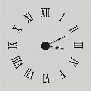 Large extra large wall clock decal kit vinyl wall by for Wall clock sticker decal