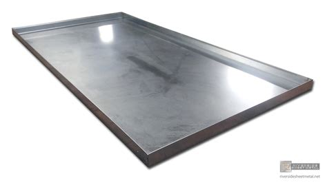 24 washer dryer drip pan for ac unit in galvanized steel shipping available