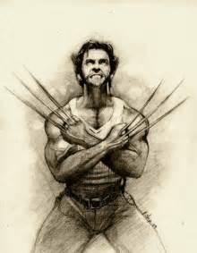Wolverine Pencil Drawing Sketches