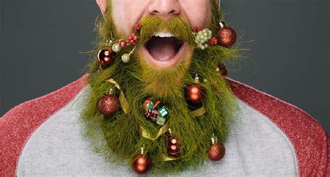 funny christmas beard decoration mens hairstyles
