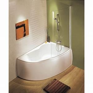 Baignoire Douche Enfant : baignoire micromega 150x100 angle droite avec pieds r glables blanc r f e60218 00 maison ~ Nature-et-papiers.com Idées de Décoration
