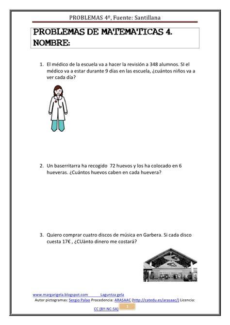 Problemas De Matematicas 4maila Iii