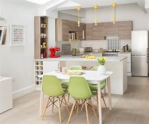 1001 idees pour amenager une cuisine ouverte dans l39air for Petite cuisine équipée avec chaises tressees salle manger