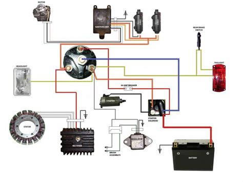 simplified wiring diagram for xs400 cafe motorcycle wiring diagrams