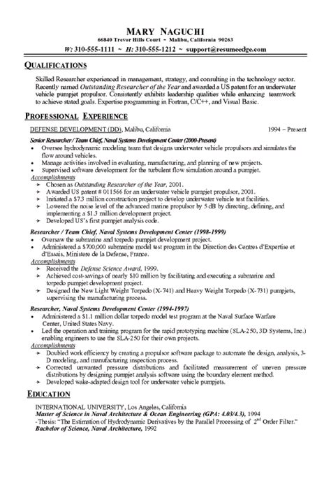 Chronological Resume Engineer by Technical Research Resume Exles Chronological