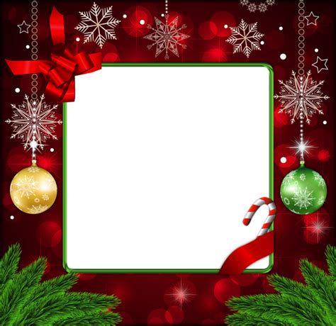 beautiful red deco png christmas frame gallery