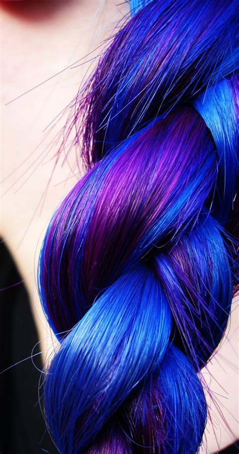 Blue And Purple Pretty Together Scene Hair