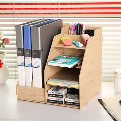 Office Desk Rack by Combination Multifunctional File Box Wool File Column
