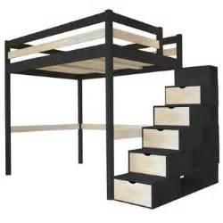 Lit Mezzanine 2 Places Adultes Avec Escalier by Lit Mezzanine 140x200 Dans Mezzanine Achetez Au Meilleur