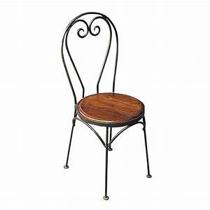 Chaise Fer Forgé : chaise bistrot motif coeur meuble fer forg et palissandre ~ Teatrodelosmanantiales.com Idées de Décoration