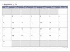 Calendario settembre 2019 da stampare iCalendarioit