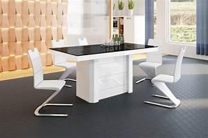 Esstisch Weiß Schwarz : design esstisch he 777 schwarz wei hochglanz ausziehbar 140 188 236 284 332 cm ~ Whattoseeinmadrid.com Haus und Dekorationen