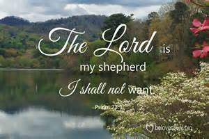 Lord Is My Shepherd I Shall Not Want