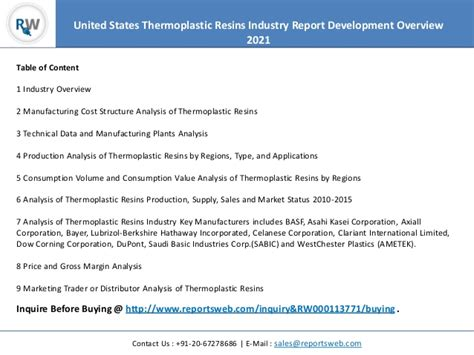 Thermoplastic Resins Competitive Analysis – Focus on ...