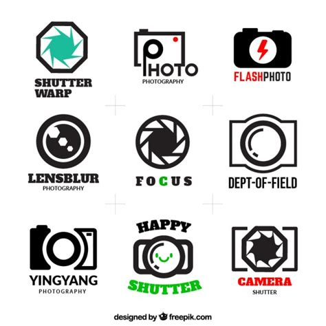 photography logos pack vector