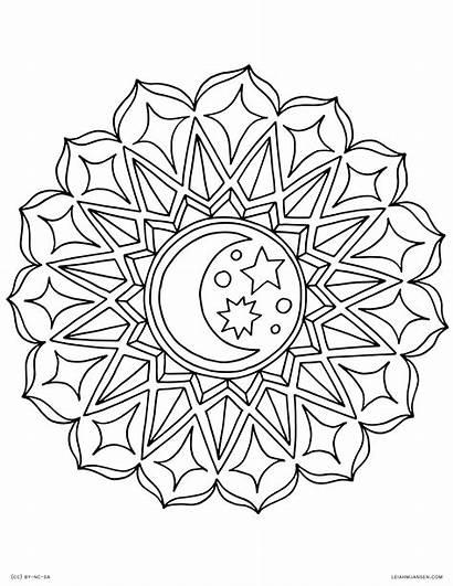 Mandala Coloring Pages Star Printable Getcolorings