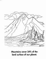 Mountain Climbing Drawing Coloring Mountains Pages Getdrawings sketch template