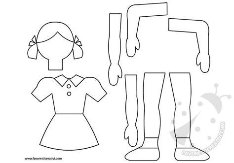 figure da ritagliare e ricomporre sagome bambina da ritagliare lavoretti creativi
