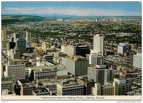 Skyline Calgary Alberta Ab Canada Canadian Postcard