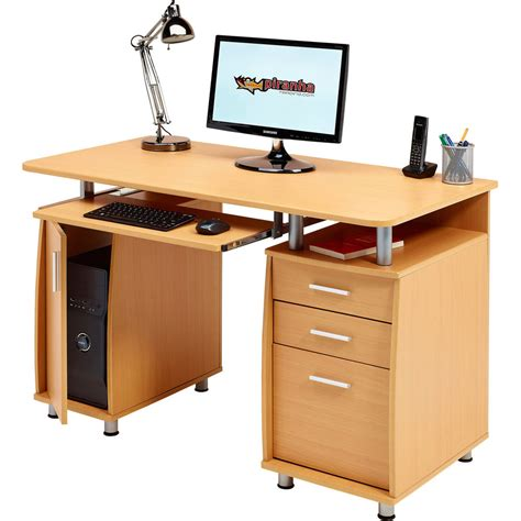 office desk with drawers computer desk with storage a4 filing drawer home office