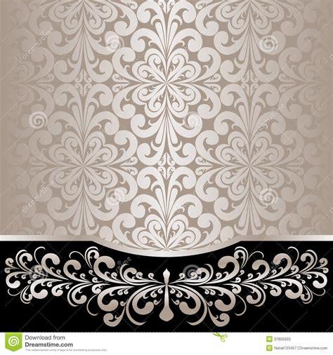 luxury ornamental background  silver floral border