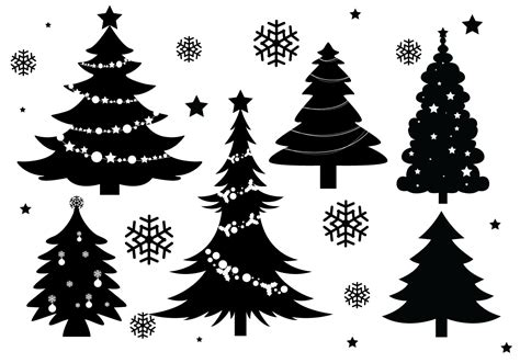 Perl module for drawing christmas trees. Christmas Tree Silhouette Vectors - Download Free Vectors ...