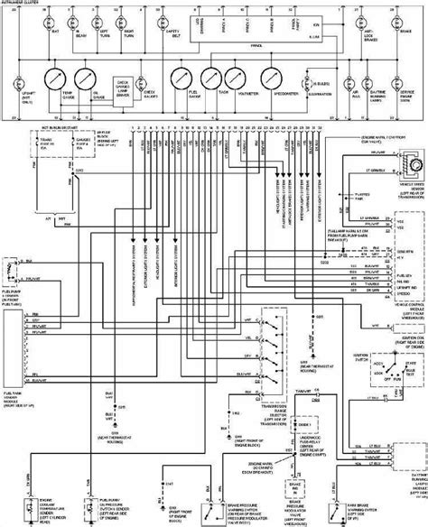 Instrument Cluster Wiring Diagram Chevrolet Pickup