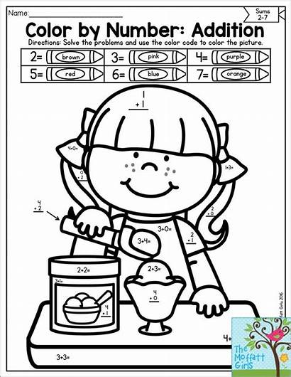 Math Code Number Addition Solve Basic Coloring