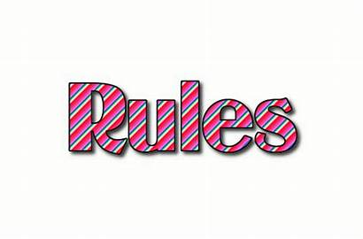 Rules Rolex Text Logos Flamingtext Stripes Animated