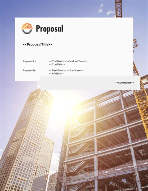 proposal pack construction  software templates samples