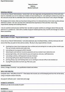 Payroll Administrator CV Example Uk