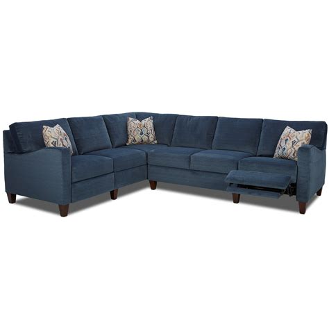 Sectional Sofas Reclining by Klaussner Colleen Hybrid Reclining Sectional With Laf