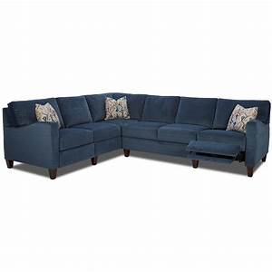 Colleen hybrid reclining sectional w laf corn sofa by for Sectional sofa hawaii