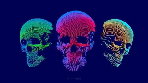 3d Wallpaper Hd by Wallpaper Abstract 3d Colorful Skull 8k Os 21287