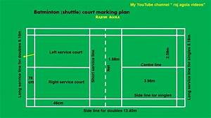 Shuttle Court Marking Plan