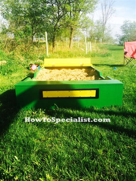 diy john deere sandbox howtospecialist   build