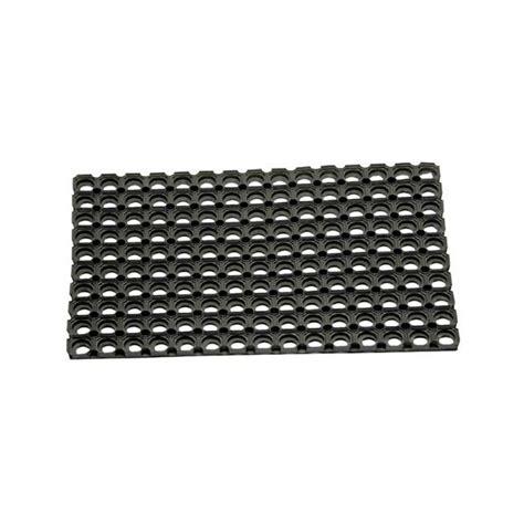 tapis caillebotis en caoutchouc 80x120 cm noir id mat home boulevard