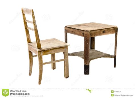 wooden chair and table stock image image of stool