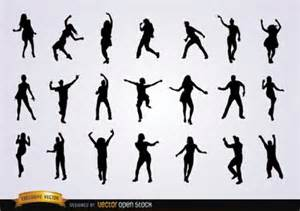 Dancing People Silhouette Vector Free