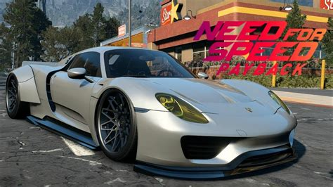 speed chions porsche 918 spyder need for speed payback porsche 918 spyder customization