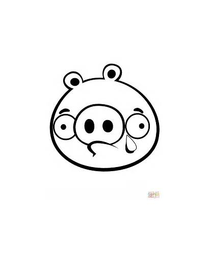 Coloring Minion Pig Crying Pages Printable Drawing