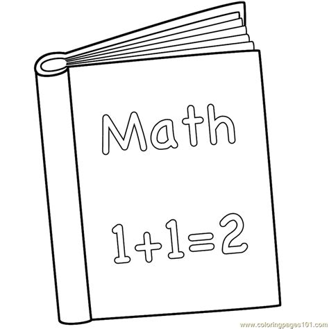 math book coloring page  books coloring pages