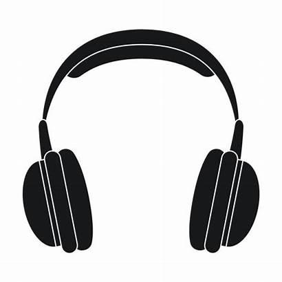 Headphones Icon Cuffie Casque Isolated Audio Symbol